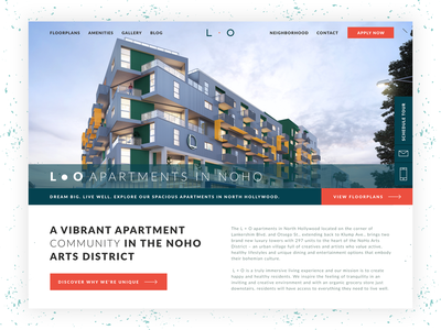 L • O - Luxury Apartments in North Hollywood real estate product designer apartment custom website hero uxdesign webdesign wordpress hollywood apartment complex marketing site apartments luxury