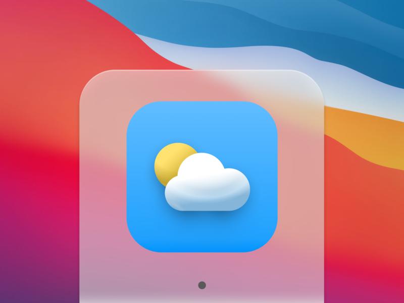 IOS14 –Weather App Icon big surr wwdc illustration design colorful 3d jean-baptiste feuillet ux neumorphic ios app design ui