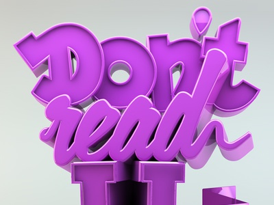 3D Street Art 3d poster typography cinema4d margraphics