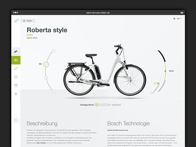 Redesign Hercules Bikes Website redesign bike webdesign clean debut ui geometric grey helvetica interface modern minimal