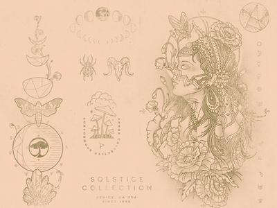 Eric Waetzig Meandgonzo Graphic Illustration Design Cadence pale wanderlust lunar tattoo floral gypsy nature graphic design illustration meandgonzo eric waetzig