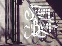 Floating Calligraphy