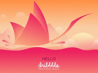 Hello~Dribbble first design dribbble design illustration