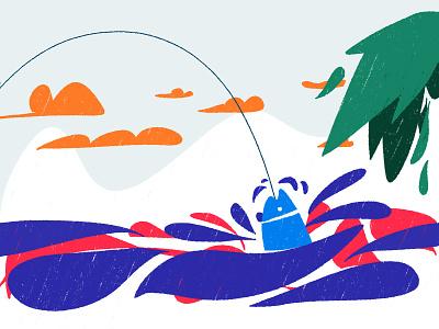 Take the bait | 愿者上钩 animation web type ui ux dribbble ui 设计 design illustration