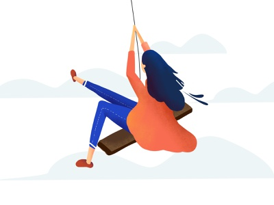 Swing in the air type dribbble ui 设计 design illustration