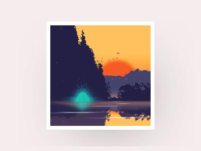 关于日落 ui ux type web dribbble ui illustration design