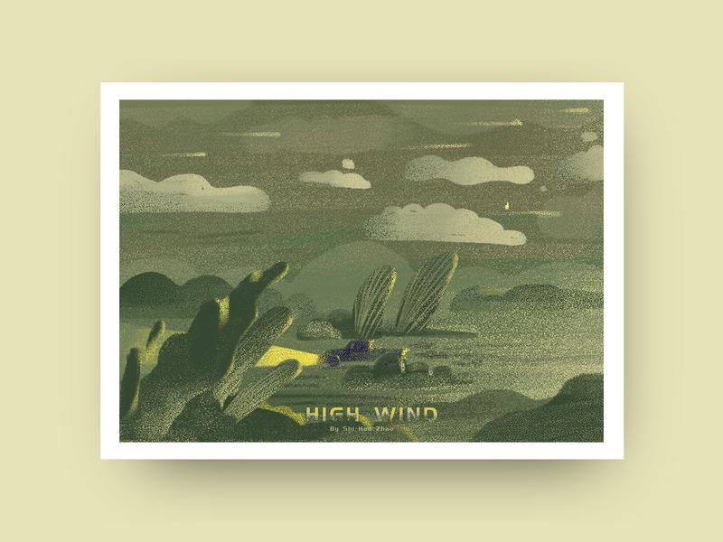 High wind | 大风 high wind 插画 type 设计 dribbble design ui illustration