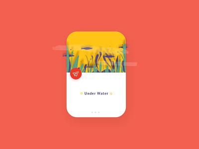 Under Water design 插画 web ui ux 设计 type ui dribbble illustration