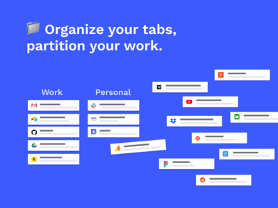 Partizion tabs productivity app browser chrome extension tabs