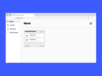 Partizion Workspaces workspace browser extension browser productivity app chrome extension