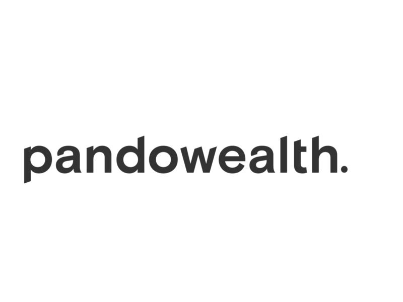 Pandowealth Wordmark brand and identity brand design logotype