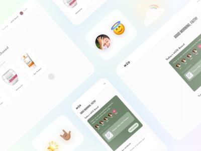 MÜD - Personalized task beauty responsive icon gradient skincare uidesign uiux