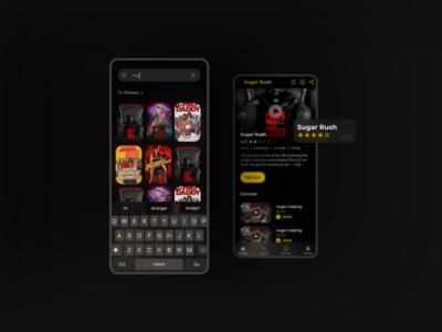 Ewaen Mobile uiuxdesign uiux mobile design yellow africa netflix streaming app movies app movies