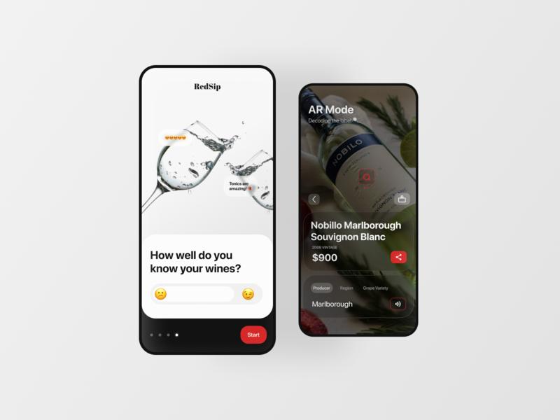 Wine AR App Concept clean app emoji mobile app mobile wineapp vr augmentedreality wine label winery