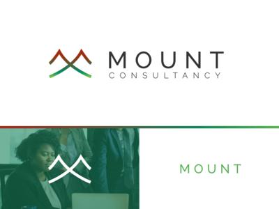 Mount Consultancy branding mountain finance app finance consultancy logo