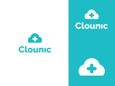 Clounic  3 logo design concept creative logo clinic medicine tech app cloud health app health