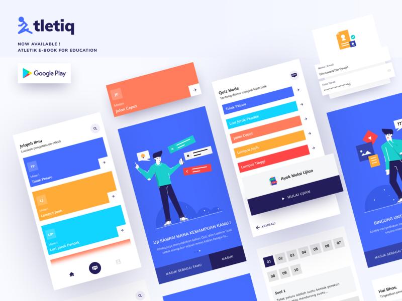 Atletiq E-Book - Application quiz e-book design branding ux illustration apps app design ui