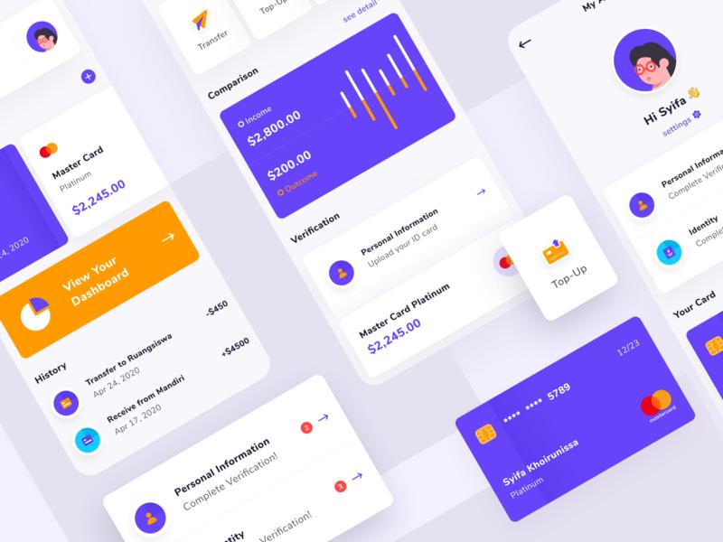 Tabunk - Finance App payment credit card money economy card e-wallet finance design app design ux ui