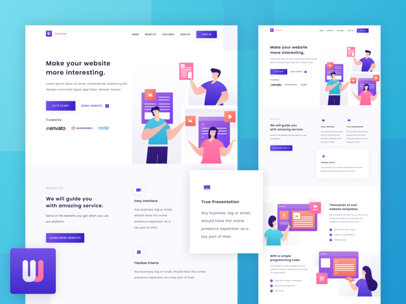 WeBuild - Landing Page Exploration webdevelopment companies website programming template website builder homepage web design website ui illustration landing page