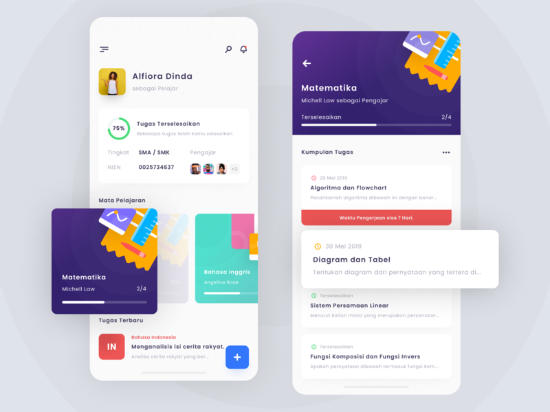Task Management App ui  ux app design cards management app task app task management illustration iphone x ios apps