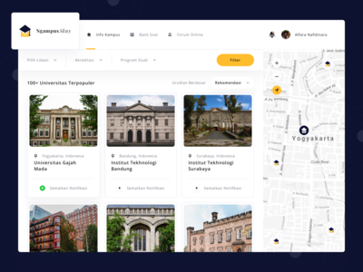 NgampusSkuy Website - Dashboard University List
