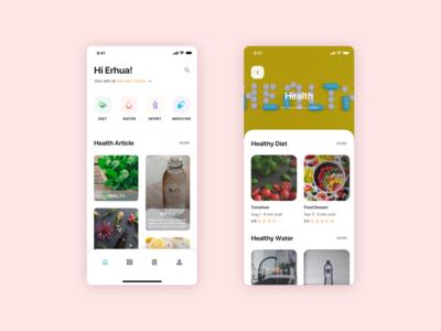 Healthy App Concept