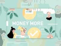 Money more design illustration