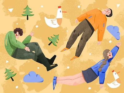 FLY branding banner design design illustration illustration
