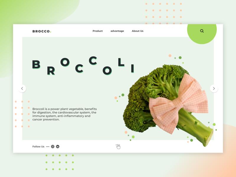 Broccoli Web designs smooth broccoli green website design web design webdesign website web ui typography branding dribbble design colour