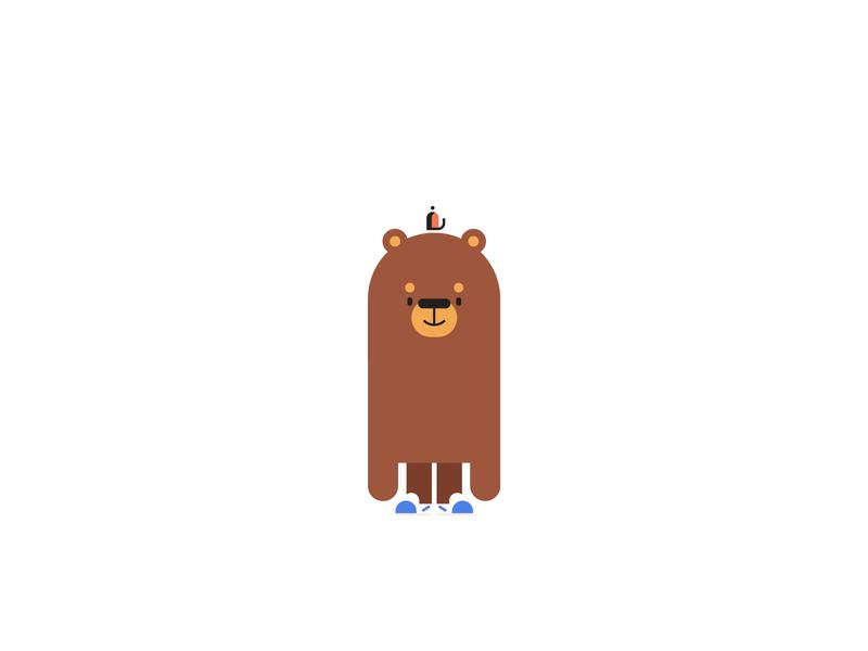 bear dood simple character sneakers hat dude dood cool bear