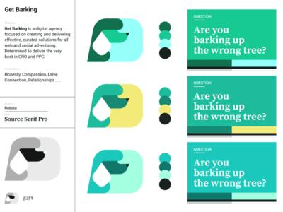 Get Barking - Branding identity motif logo marketing poodle dog design branding brand