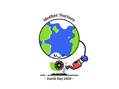 Mother Nurture - Earth Day 2020 planet character illo nature mother earth earth illustration earth day