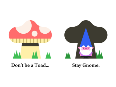 Stay Gnome character design coronavirus pun mushroom whimsical cute humor illustration illo covid-19 gnome stay home