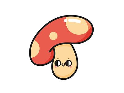Mush-Room in My Heart colorful cute illustration character pun mushroom