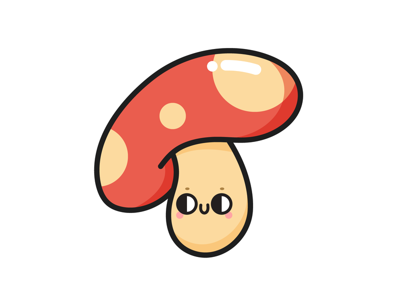 Mush-Room in My Heart colorful cute illustration character pun mushroom