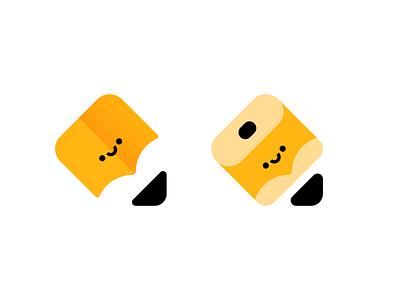 That Happy Pencil that happy studio cute happy face negative space pencil brand design illustration character monogram branding logo