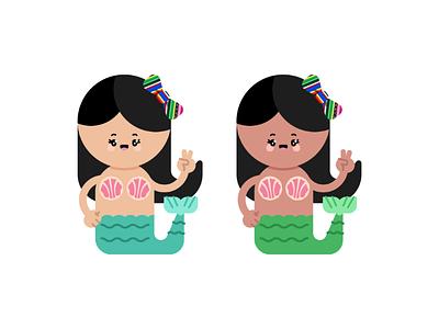 Concha Mermaid kawaii culture character bread concha cute mermaid mexican