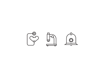 Weekly Icons - Professions week 4 weekly icons profession police helmet microscope icon stethoscope scientist doctor