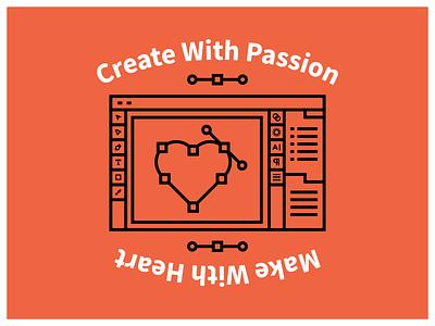 Create With Love tshirtdesign simple pen tool adobe illustrator illustration love design passion