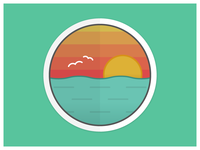 Sunset Badge Tutorial