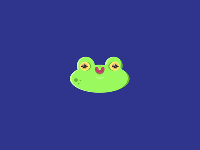 Hello, Frog character froggy green simple cute illustration frog