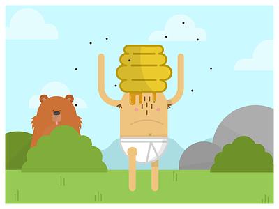 Dude In Pants pants undies y-fronts bear hive character design