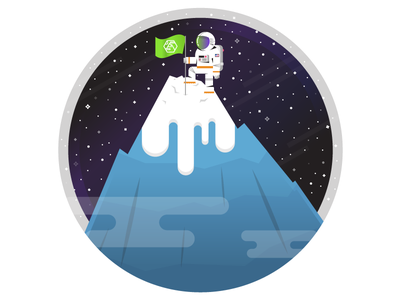 Space Mountain spaceman climb mountain achieve