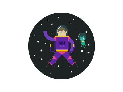 AstroMan astro space man cat character thing