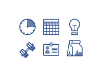 Work And Play Icons
