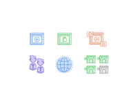 Online Video Strategy Icons