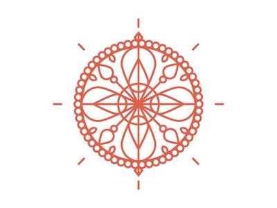mandala mark organic henna life flower mandala pattern