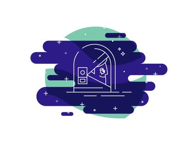 Astro Man cosmic stars illustration lines helmet astro space man