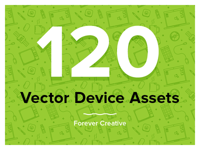 Devices FOREVER desktop mobile devices assets creative pattern illustration vector for sale iconography
