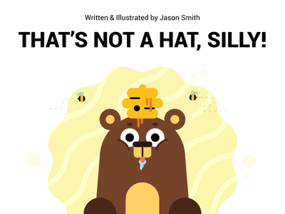 That's Not a Hat, Silly! - First Book ebook simple bumble bee bear cute design character illustration childrens book